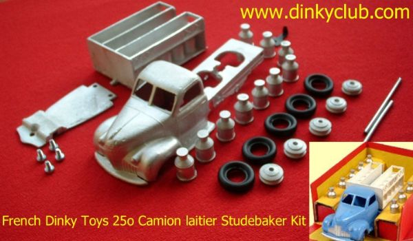 DINKY TOYS COPY MODEL 25O STUDEBAKER MILK TRUCK CAMION LAITIER STUDEBAKER [ IN KIT FORM ]